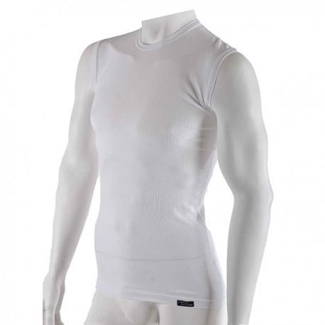 Pánské komfortní bílé tričko bez rukávů Nanobodix Comfort 16aa5657b4