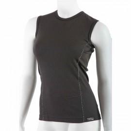 Dámské antibakteriální černé tričko bez rukávů An-Atomic