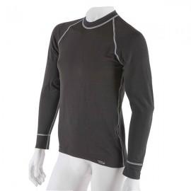 Pánské antibakteriální černé tričko s dlouhým rukávem An-Atomic