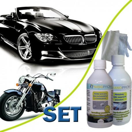 SET - NANO ochrana laku automoto 100ml + Abraz. čistič 100ml