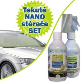 SET - Nanotech tekuté stěrače 100ml + Abrazivní čistič 100ml