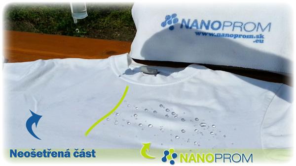 Nano impregnace textilu - rozdíl